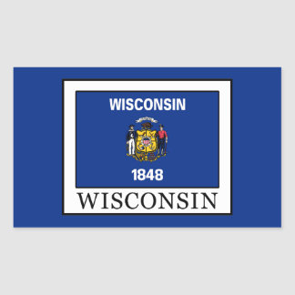 Sticker Rectangulaire Le Wisconsin