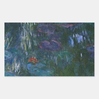 Sticker Rectangulaire L'eau Lillies