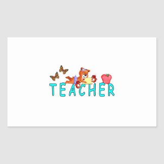 Sticker Rectangulaire Lecture de professeur