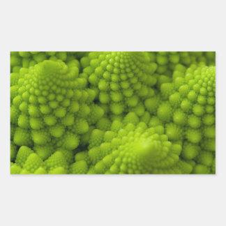 Sticker Rectangulaire Légume de fractale de brocoli de Romanesco