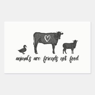 Sticker Rectangulaire les animaux sont la nourriture 2 d'amis pas