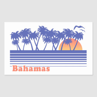 Sticker Rectangulaire Les Bahamas