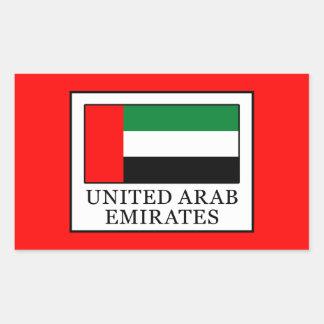 Sticker Rectangulaire Les Emirats Arabes Unis