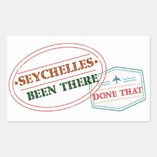 Sticker Rectangulaire Les Seychelles là fait cela