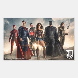 Sticker Rectangulaire Ligue de justice de la ligue de justice | sur le