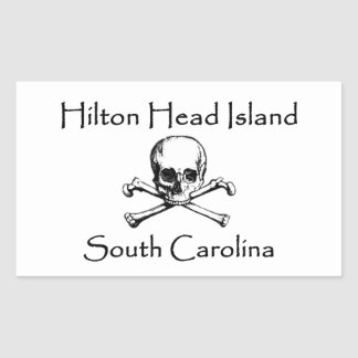 Sticker Rectangulaire Logo de jolly roger de Hilton Head Island