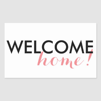 Sticker Rectangulaire Maison bienvenue !