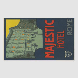 Sticker Rectangulaire Majectic Hotel Rome