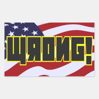 Sticker Rectangulaire Mal ! Stylie soviétique au-dessus des USA