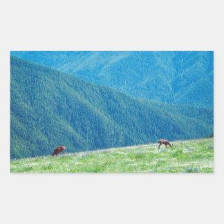 Sticker Rectangulaire Mâles par les montagnes