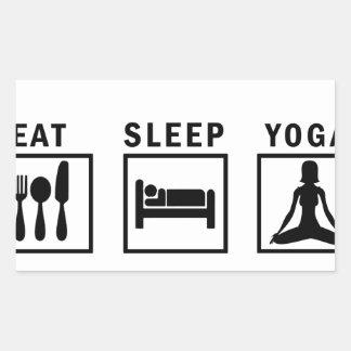 Sticker Rectangulaire mangez le yoga de sommeil