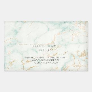 Sticker Rectangulaire Marbre gris en bon état VIP d'or vert de