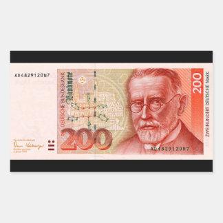 Sticker Rectangulaire Marks allemands