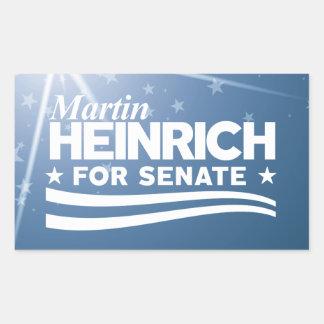 Sticker Rectangulaire Martin Heinrich pour le sénat