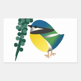 Sticker Rectangulaire Mésange