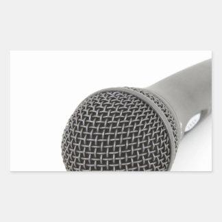 Sticker Rectangulaire Microphone - entretien à moi