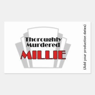 Sticker Rectangulaire Millie complètement assassiné