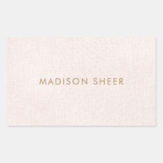 Sticker Rectangulaire Minimaliste élégant simple et rose-clair