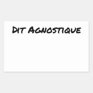 STICKER RECTANGULAIRE MOI ET DIEU ? DIAGNOSTIQUE : ON ME DIT AGNOSTIQUE