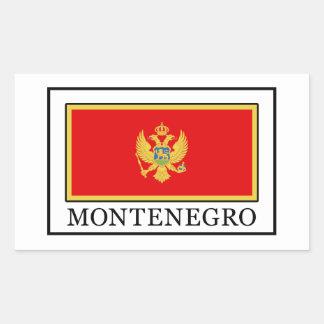 Sticker Rectangulaire Monténégro