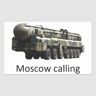 Sticker Rectangulaire moscow calling topol m