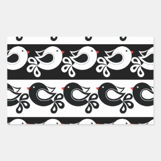 Sticker Rectangulaire motif 1 d'oiseaux