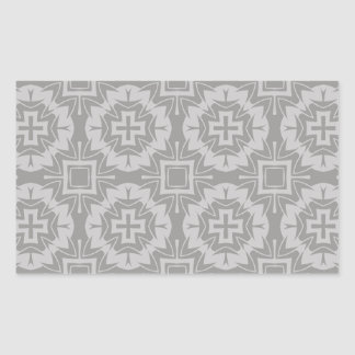 Sticker Rectangulaire motif 8773Grey