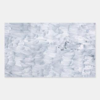 Sticker Rectangulaire motif blanc abstrait minimal de texture de pinceau