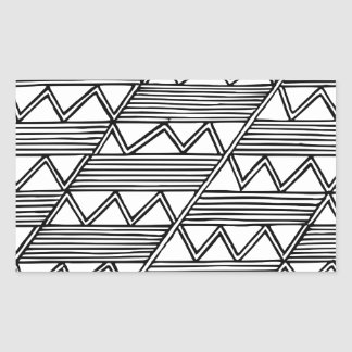 Sticker Rectangulaire Motif de zigzag