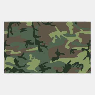 Sticker Rectangulaire Motif vert de Camo Brown de camouflage