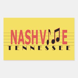 Sticker Rectangulaire Nashville TN collant à la musique