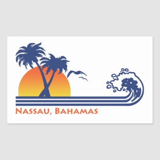 Sticker Rectangulaire Nassau Bahamas