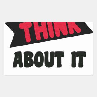 Sticker Rectangulaire ne pensez pas même cela le T-shirt de 2 cadeaux