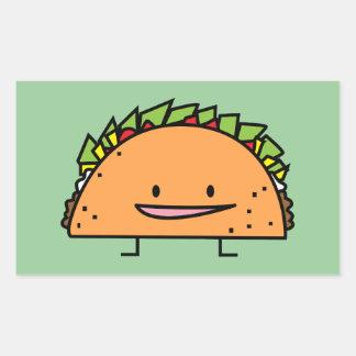Sticker Rectangulaire Nourriture heureuse de Mexicain de Salsa de viande