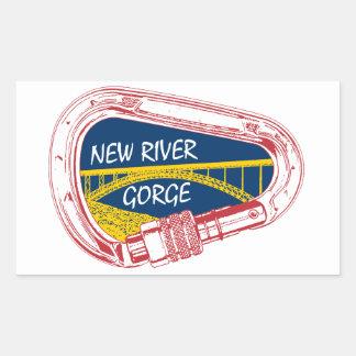 Sticker Rectangulaire Nouvelle gorge de rivière montant Carabiner