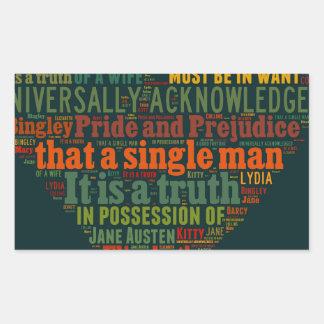 Sticker Rectangulaire Nuage de mot de fierté et de préjudice