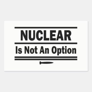 Sticker Rectangulaire Nucléaire n'est pas une option