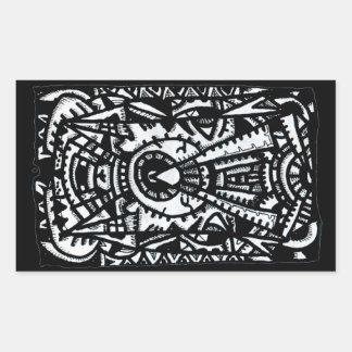 Sticker Rectangulaire Oeil-Oeil. par Brian Benson