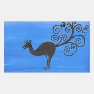 Sticker Rectangulaire Oiseau fantastique
