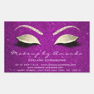 Sticker Rectangulaire Or de rose de salon de beauté de maquillage