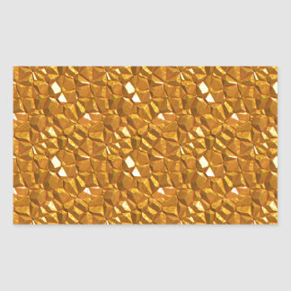Sticker Rectangulaire Or d'or