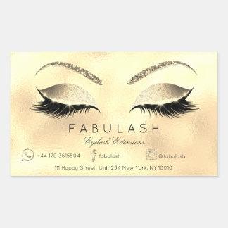 Sticker Rectangulaire Or VIP de lux de salon de beauté de maquillage