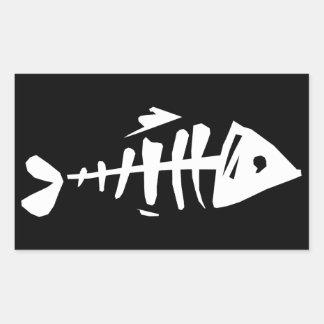 Sticker Rectangulaire Os de poissons