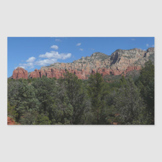 Sticker Rectangulaire Panorama des roches rouges dans Sedona Arizona