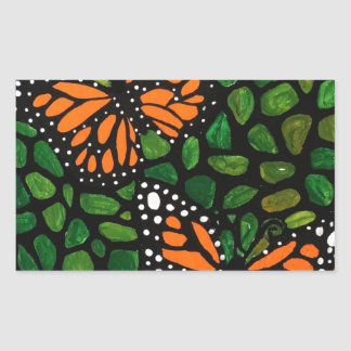 Sticker Rectangulaire papillons