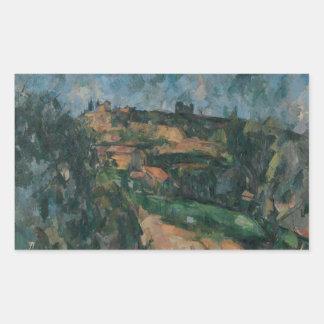 Sticker Rectangulaire Paul Cezanne - courbure de la route