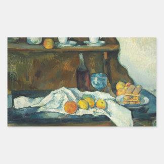 Sticker Rectangulaire Paul Cezanne - le buffet