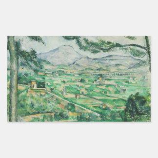 Sticker Rectangulaire Paul Cezanne - Mont Sainte-Victoire
