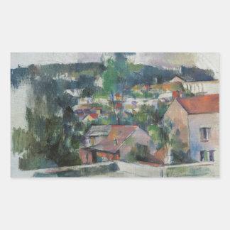 Sticker Rectangulaire Paul Cezanne - paysage