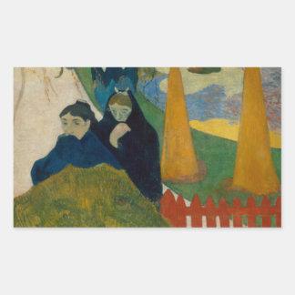 Sticker Rectangulaire Paul Gauguin - Arlesiennes